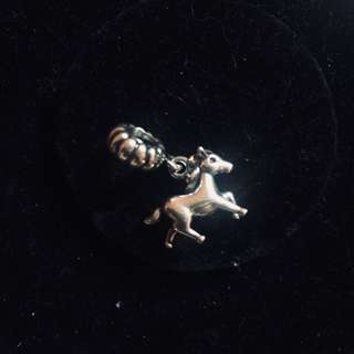 Auth Horse Silver Hanging Charm - PANDORA