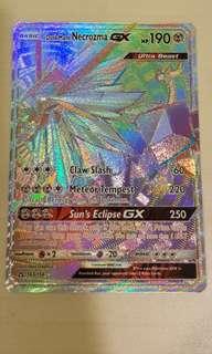 Dusk Mane Necrozma GX Rainbow Secret Rare