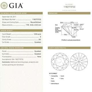 2ct GIA triple excellent Loose diamond