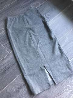 AMERICAN APPAREL XS HIGH WAISTED GREY PONTE PENCIL SKIRT