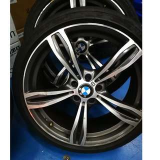"""For BMW 5ser, 6ser, 7ser - 20"""" Staggered wheelset, PCD 5x120, with Michelin Pilot Super Sport tyres"""