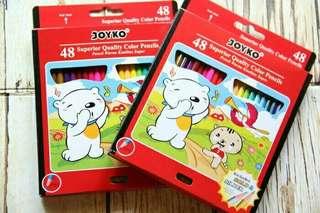 Pensil warna Joyko 48 warna ORIGINAL