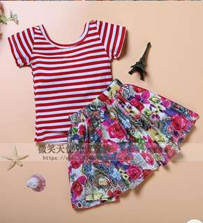 BN girl dress set top+skirt