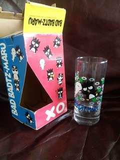 xo 日本絕版1997年不可思議(倒冷水會變色)高身玻璃杯