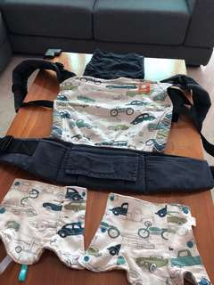 Tula Baby Carrier vehicle design with drool pads