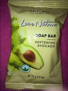 Oriflame love nature soap bar softening avocado