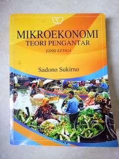 Buku ekonomi / teori pengantar mikro ekonomi / sadono sukirno / buku skripsi