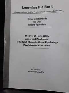 Psychometrician Reviewer