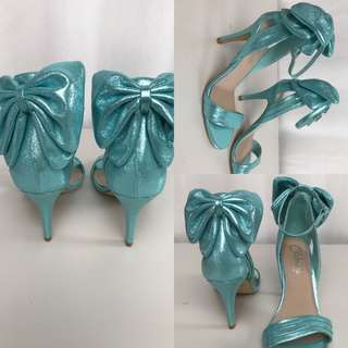 Sparkly Bow Heels