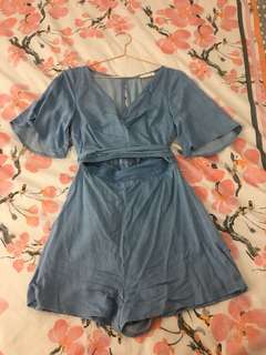Kookai RESORT CHAMBRAY PLAYSUIT