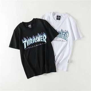 Thrasher Magazine Skateboard Glow In The Dark T Shirt