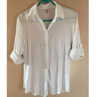 White cotton Long sleeves