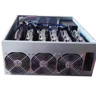 Cryptocurrency Ethereum Miner 50 MH AMD 4U Rack Chassis 19 inch Datacenter 2x AMD Radeon RX 570/580 4/8GB Mining Rig Supported Coins Ethereum Classic, Monero, ZCash, CryptoNight, Expanse, Hush, Zencash, Ubiq, FeatherCoin, PhoenixCoin, Soilcoin, Siacoin