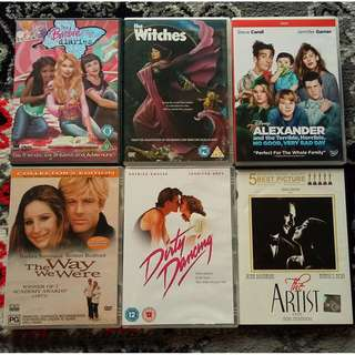 Assorted DVD Movies: Animation / Disney / Classic / Drama
