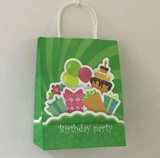 Happy birthday paper bag, goody bag gift bag, birthday goodies bag, door gift bag