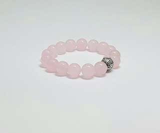 Beads Bracelet - 10mm Rose Jade