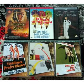 Assorted DVD Movies: Hollywood Classic