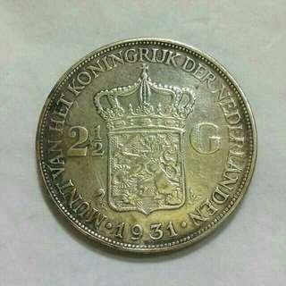 Koin kuno 2,5 gulden 1931