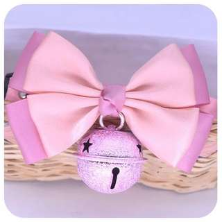 pet polyester bow tie collar with bell