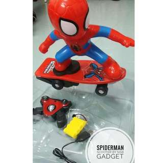 Rechargeable Spiderman Remote Control Scooter