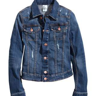 H&M Dark Washed Denim Jacket
