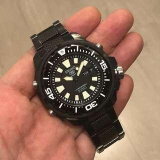 FS: Like new Seiko all black Frankenmonster SKZ253
