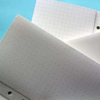 Folded Plain Planner inserts