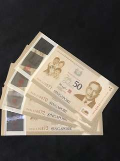 SG50 Commemorative $50 With 4 Run