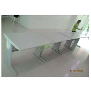 HV OFFICE TABLE SET WITH MOBILE PEDESTAL CABINET--KHOMI