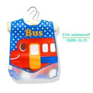Waterproof Bib with Food Catcher Pocket - CL71