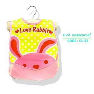Waterproof Bib with Food Catcher Pocket - CL65