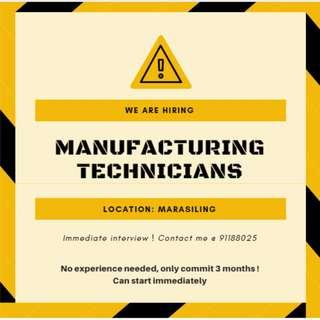 Temp Manufacturing Technician (3 months)
