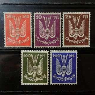 [lapyip1230] 德意志帝國 1920年 帝國航空郵票 新票全份 Mint