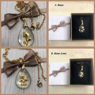 Sweet  + Cute Acrylic Necklace Pendant with box