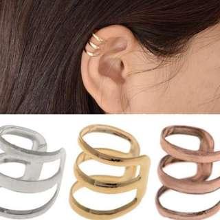 Silver Clip On Earring