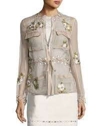 Elie Tahari Silk Utility Jacket REDUCED
