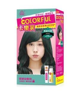 美吾髮 COLORFUL 卡樂芙 優質染髮霜 MAYWUFA 霧感灰綠 寶石粉紅 護髮泡泡染