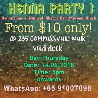 Hari Raya Henna party 2018 | Eid | Henna | Mehndi | Inai | Pakistani Mehndi