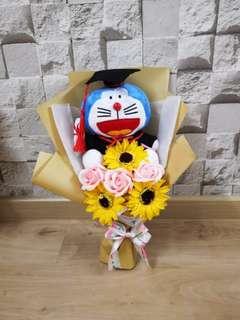 Doraemon graduation bouquet
