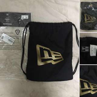 Authentic new era gym string bag