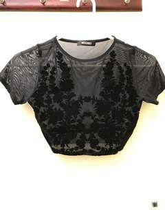 Misguided Sheer Top Size 6-8