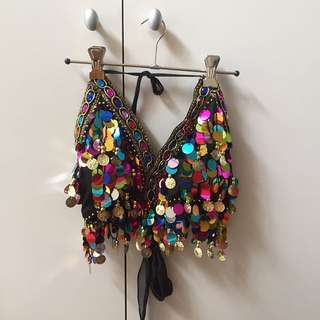 sequinned festival crop, size 6-10