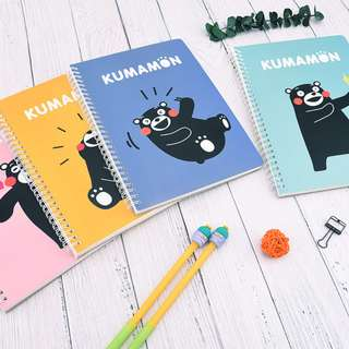 Kumamon Colorful Spiral Ruled Notebook B5