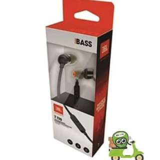 JBL T110 In Earphone Headset Headphones with microphone & flat cable - Ori