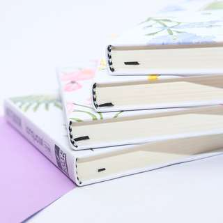 Sunshine Flower Hardcover Mixed Notebook A6