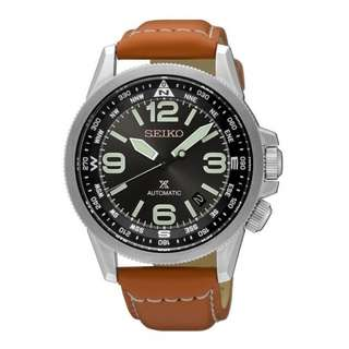 Seiko Prospex SRPA75K1 Men Automatic Brown Leather Jam Pria SRPA75