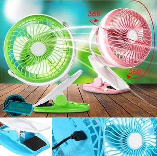 PORTABLE 360 DEGREE FAN WITH CLIP