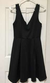 A-Line Fit & Flare Black Dress - Forever 21