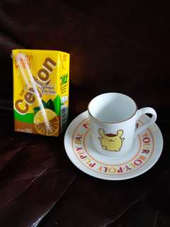 Pompompurin 佈甸狗絕版2001年陶瓷迷你杯+碟