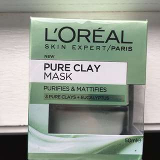 L'Oréal pure clay mask brand new